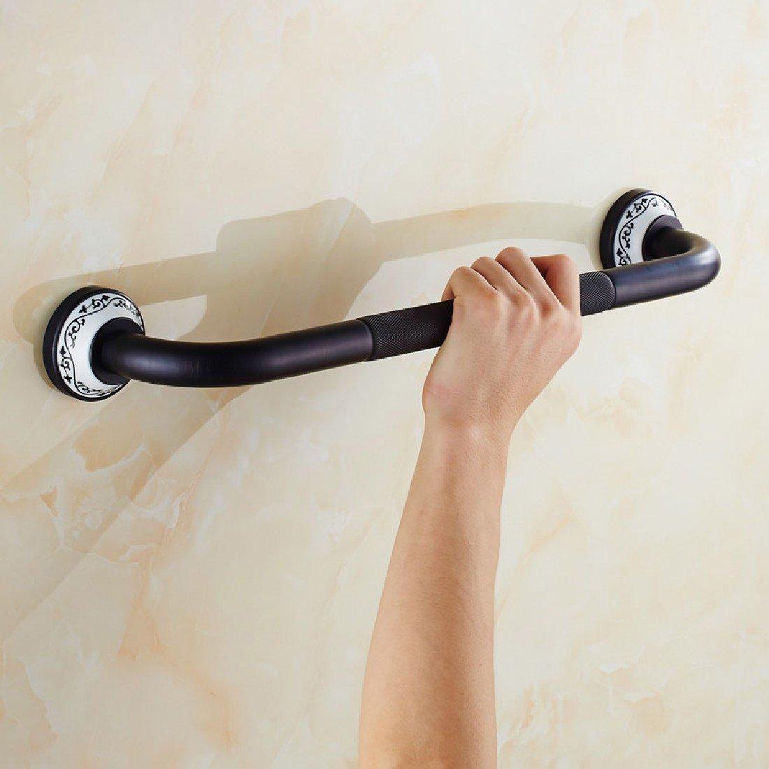 SDKKY bagno antiscivolo bracciolo Cobre Negro Antiguo baño de Estilo Grab pasamanos Slip el Viejo pasamanos WC barandillas de Seguridad