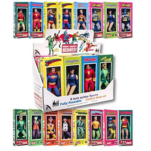 Action Figure Boxed Set (DC Comics Mego Style Boxed 8 Inch Action Figures: Set of all 16 Figures And Box)