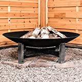 Köhko'Sevilla FIRE BOWL 790mm Diameter Fire Pit on Stainless Steel Support and elaborately decorated iron rods 41007