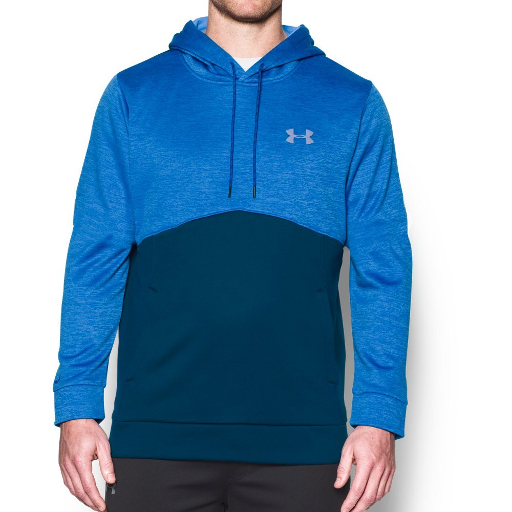 Under Armour Men's Storm Armour Fleece Twist Hoodie, Blackout Navy /Steel, Small by Under Armour (Image #1)