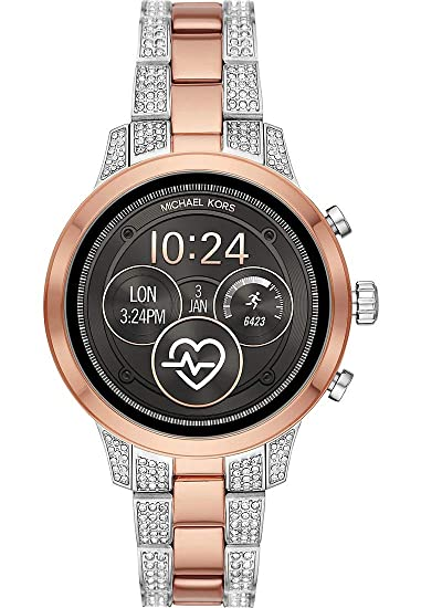 97e97e33f9be Michael Kors Womens Digital Connected Wrist Watch with Stainless Steel  Strap MKT5056  Amazon.co.uk  Watches