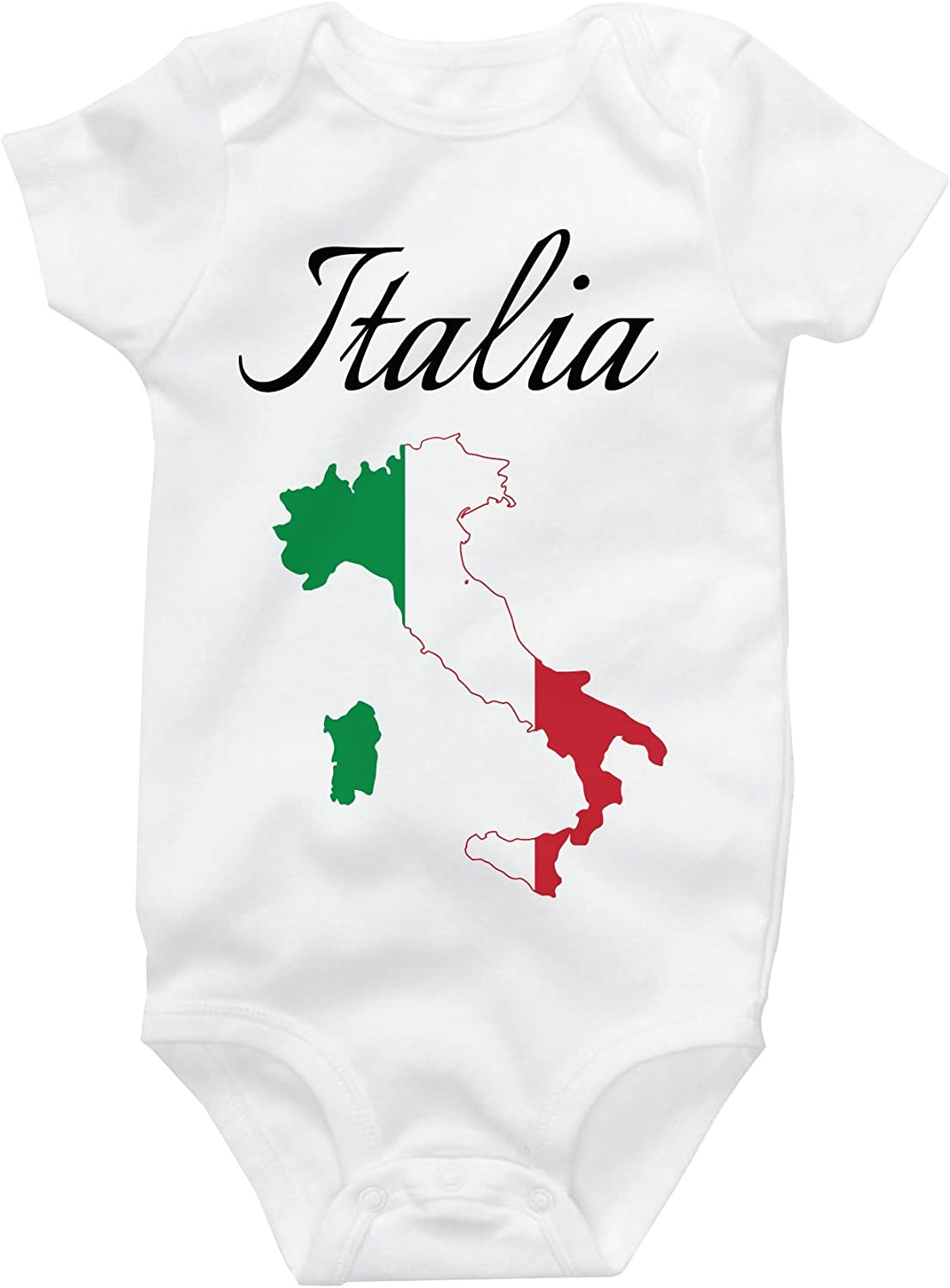 Italia Italy Italian Map Organic One-Piece Kid Pajamas Clothes Baby Girls Romper Jumpsuit