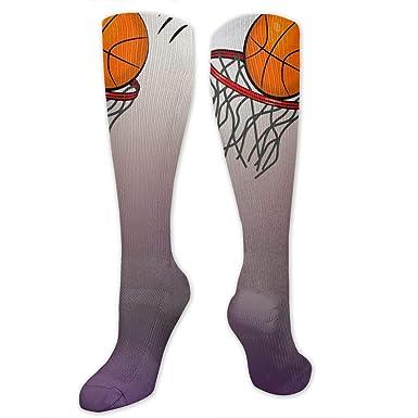Amazon.com: Calcetines largos unisex para baloncesto, aro ...