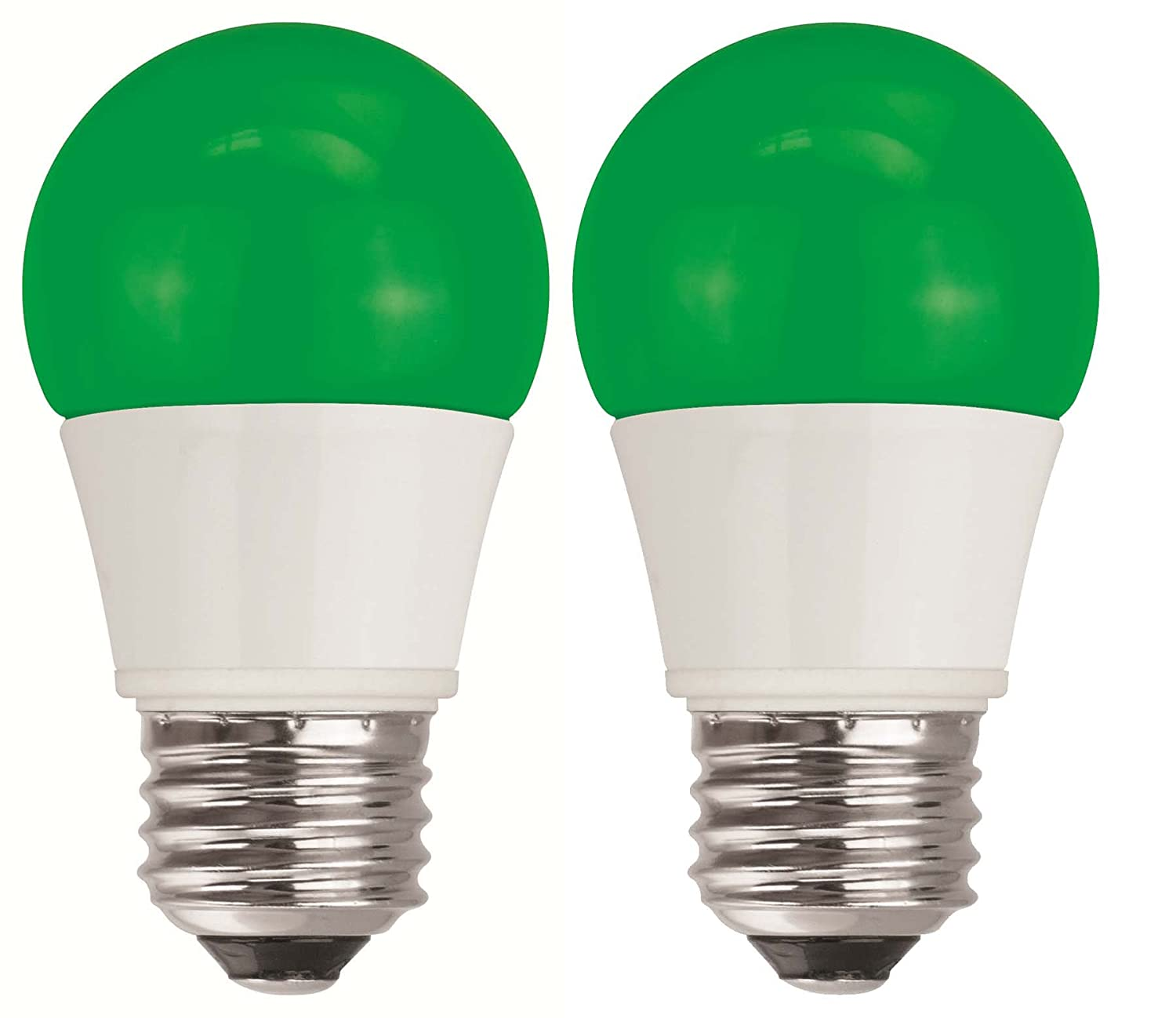 TCP 5W Equivalent Green LED A15 Regular Shaped Light Bulbs, Non ...
