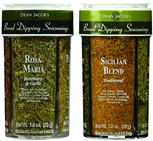 Dean Jacobs Bread Dipping Seasonings, Large, 4.0-Ounce (4 Spice Variety Pack) 2 Pack (Garlic Bread Sauce)