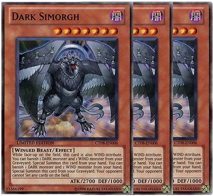 DARK SIMORGH SUPER RARE CT08-EN006 NEAR MINT YUGIOH