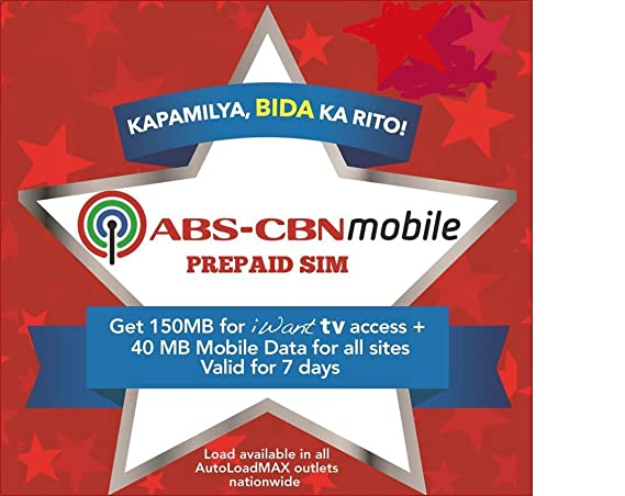Amazon.com: abs-cbn Mobile Prepaid normal/Micro SIM Pack