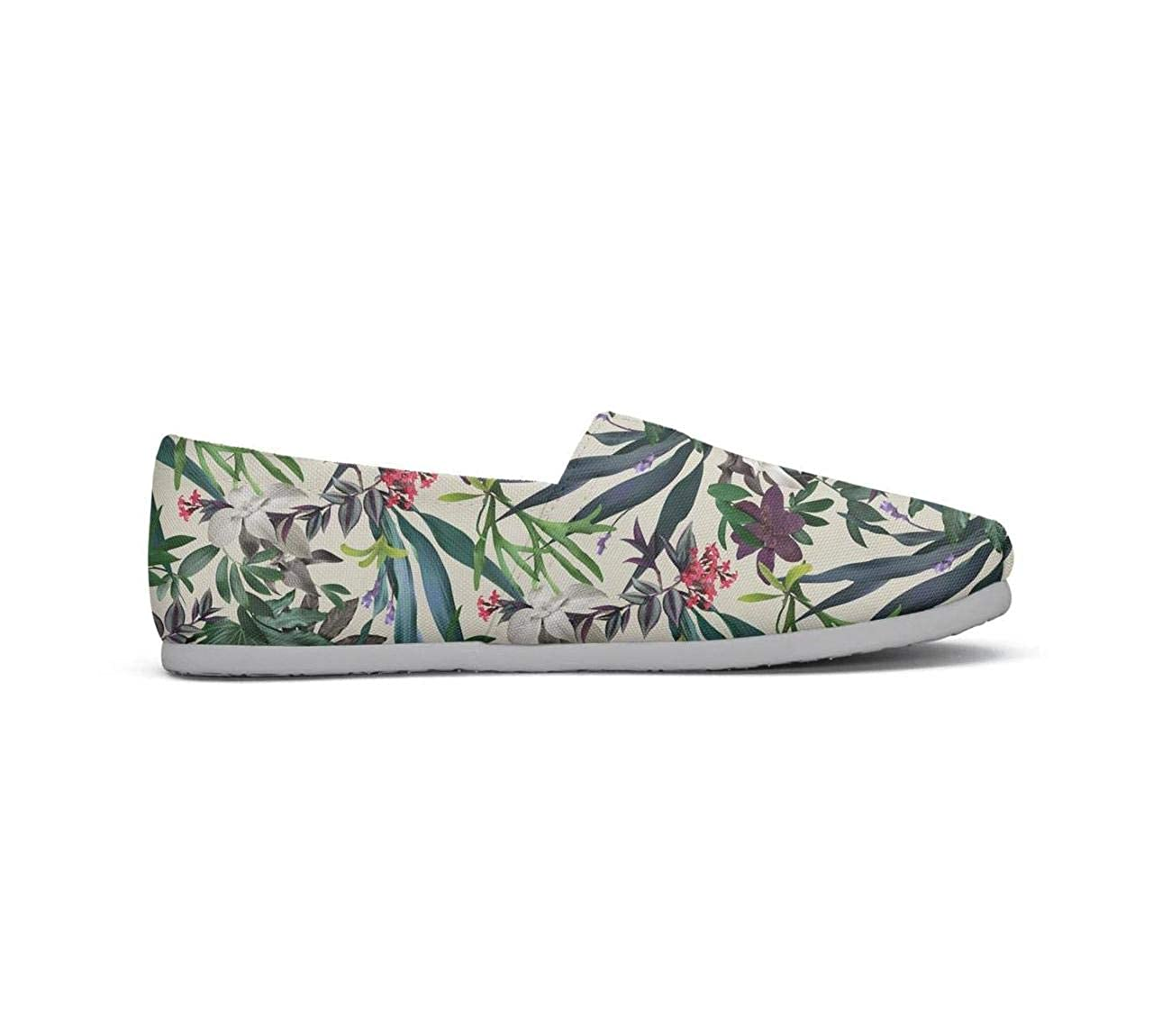 SSIE Colorful Tropical Leaves Flowers and Watermelon Pretty Women Sneakers for Womens Customize Highly Breathable
