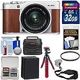 Fujifilm X-A5 Wi-Fi Digital Camera & 15-45mm XC Lens (Brown) 32GB Card + Battery + Case + Flex Tripod + Strap + Filter + Kit