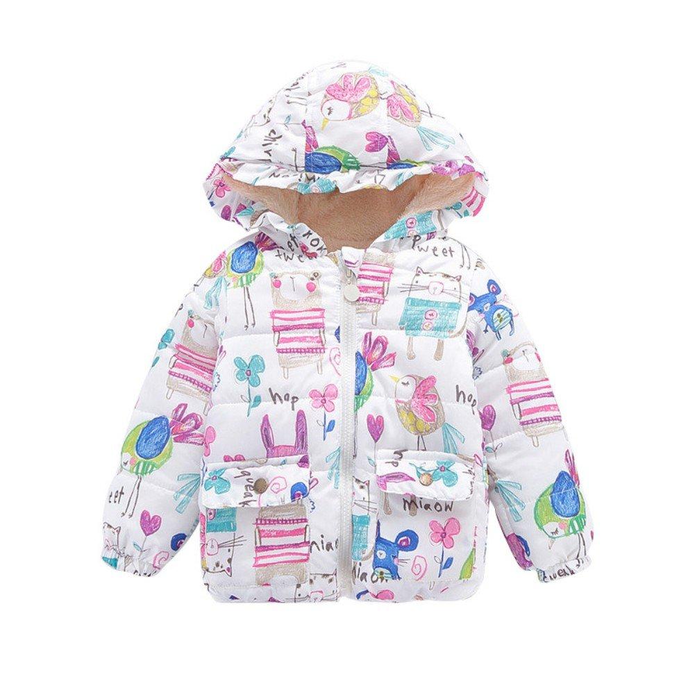 Zerototens Baby Boys Coat,1-5 Years Old Newborn Infant Kids Outwear Child Long Sleeve Autumn Winter Thick Warm Hooded Down Zipper Jacket Children Outdoor Windproof Overcoat