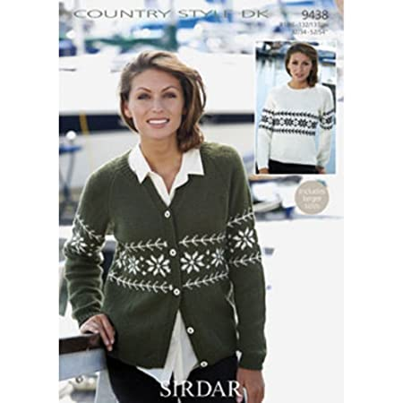 Sirdar Sweater And Cardigan Country Style Dk Knitting Pattern 9438