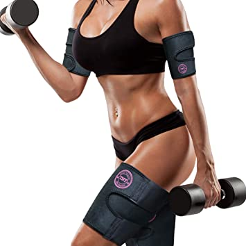 fd98c6bfa4a09 TNT Body Wraps for Arms and Slimmer Thighs - Lose Arm Fat   Reduce  Cellulite - 4 Piece Compression Wrap Kit