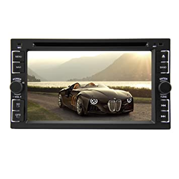 6.2 Inch Head Unit Double Din Car Stereo Support GPS Navigation 2din auto Radio Steering Wheel