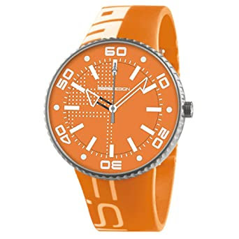 Momo Design MD187-RB-140RSL 43mm Stainless Steel Case Orange Silicone Mineral Mens Watch