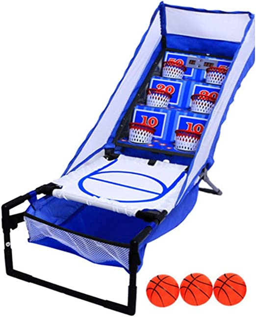 Aro de Baloncesto Cubierta Arcade Juego de Baloncesto Plegable LED ...