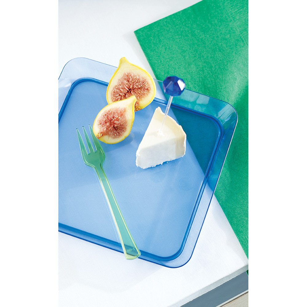 Clear 179432 Creative Converting 15.5-Inch Rectangle Plastic Serving Tray