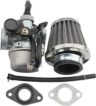 GOOFIT PZ19 Carburetor with Fuel Switch for 50cc 90cc 110cc 125cc Sunl Roketa Chinese ATV Go Kart