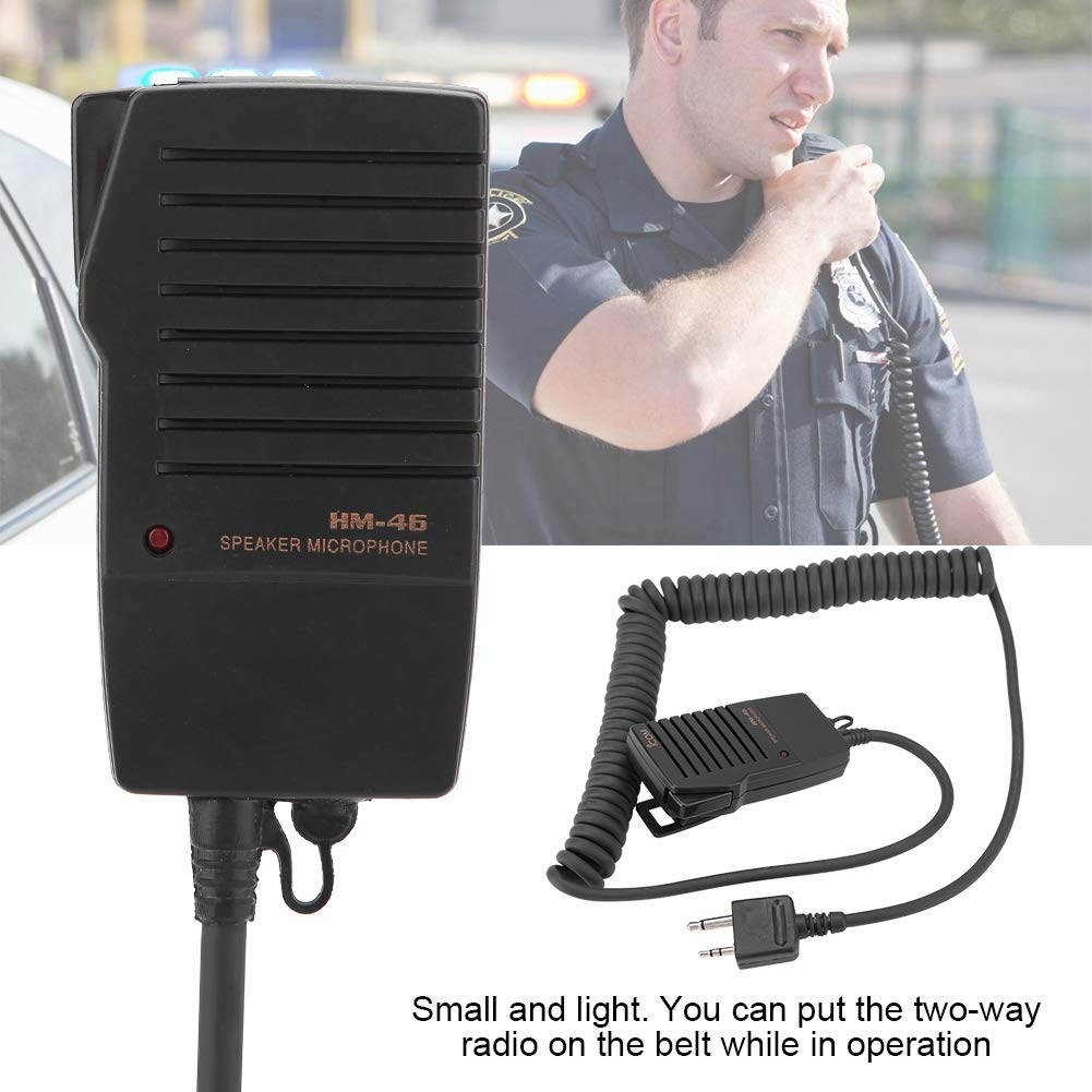 HM-46 Handheld Speaker Micphone for ICOM IC-V8 V82 V85 IC-T2H T8A 2AT E90 W32A Two Way Radios