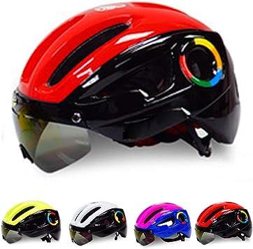 KuaiKeSport Casco Ciclismo,CE Certified Casco Bicicleta con Gafas ...