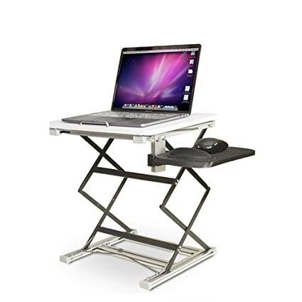 Incredible Standing Desk Height Adjustable Standing Desk Portable Aluminum Laptop Desk Stand For Notebook Macbook Light Weight Ergonomic Tv Bed Lap Tray Stand Home Remodeling Inspirations Propsscottssportslandcom