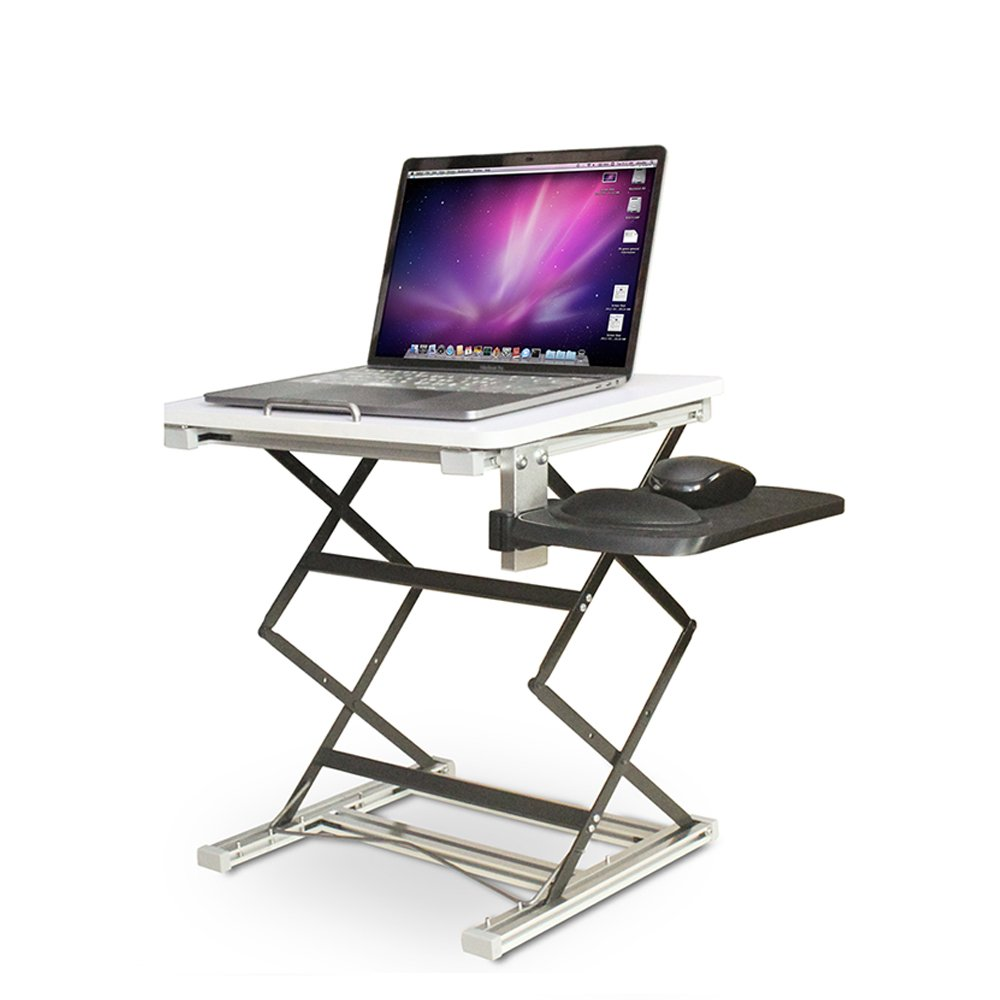 Annstory Laptop Desk, Portable Riser and Standing Table Adjustable Riser Height 4.9''-31'' Sit Or Stand Up Desk Easy Height Adjustments Table Office Desk Laptop Desk Tray by Annstory (Image #1)