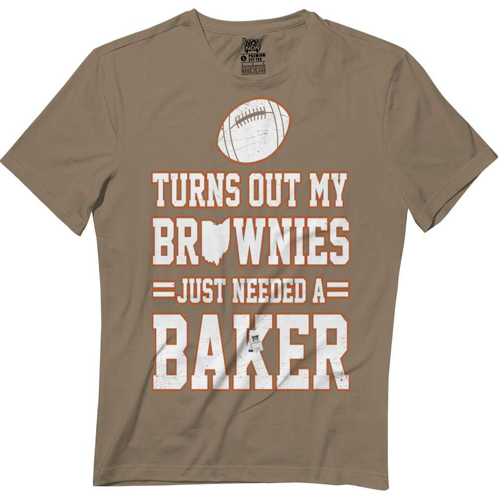 9e4087ed8 Amazon.com  Brownies Just Needed A Baker Funny Cleveland Football Lovers  Tshirt  Clothing