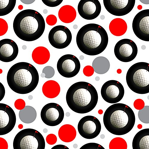GRAPHICS & MORE Golf Ball Moon Flag Golfing Premium Gift Wrap Wrapping Paper Roll - Wrap Ball Gift