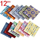 Jeatonge Pocket Square For Men Assorted 12 Pack (Style 05)