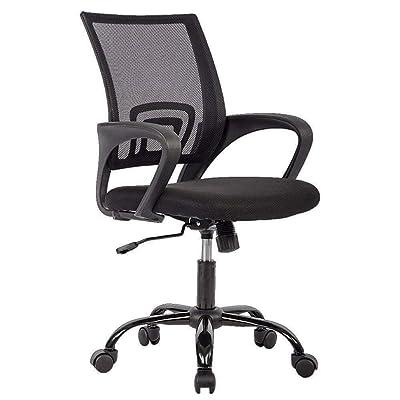 Office Chair Ergonomic Desk Chair Mesh Computer Chair Lumbar Support Modern Executive Adjustable Stool Rolling Swivel Chair