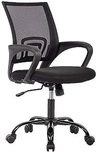 Amazon Com Office Chair Ergonomic Cheap Desk Chair Mesh Computer Chair Lumbar Support Modern Executive Adjustable Stool Rolling Swivel Chair For Back Pain Black Furniture Decor