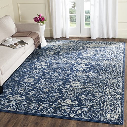 Safavieh Evoke Collection EVK270A Vintage Navy and Ivory Area Rug (8' x 10')