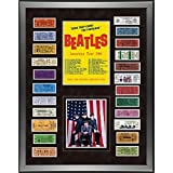 The Beatles 1964 Custom Framed 24 inch x 32 inch Ticket Collage