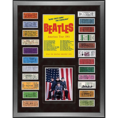 The Beatles 1964 Custom Framed 24 inch x 32 inch Ticket Collage by Steiner Sports