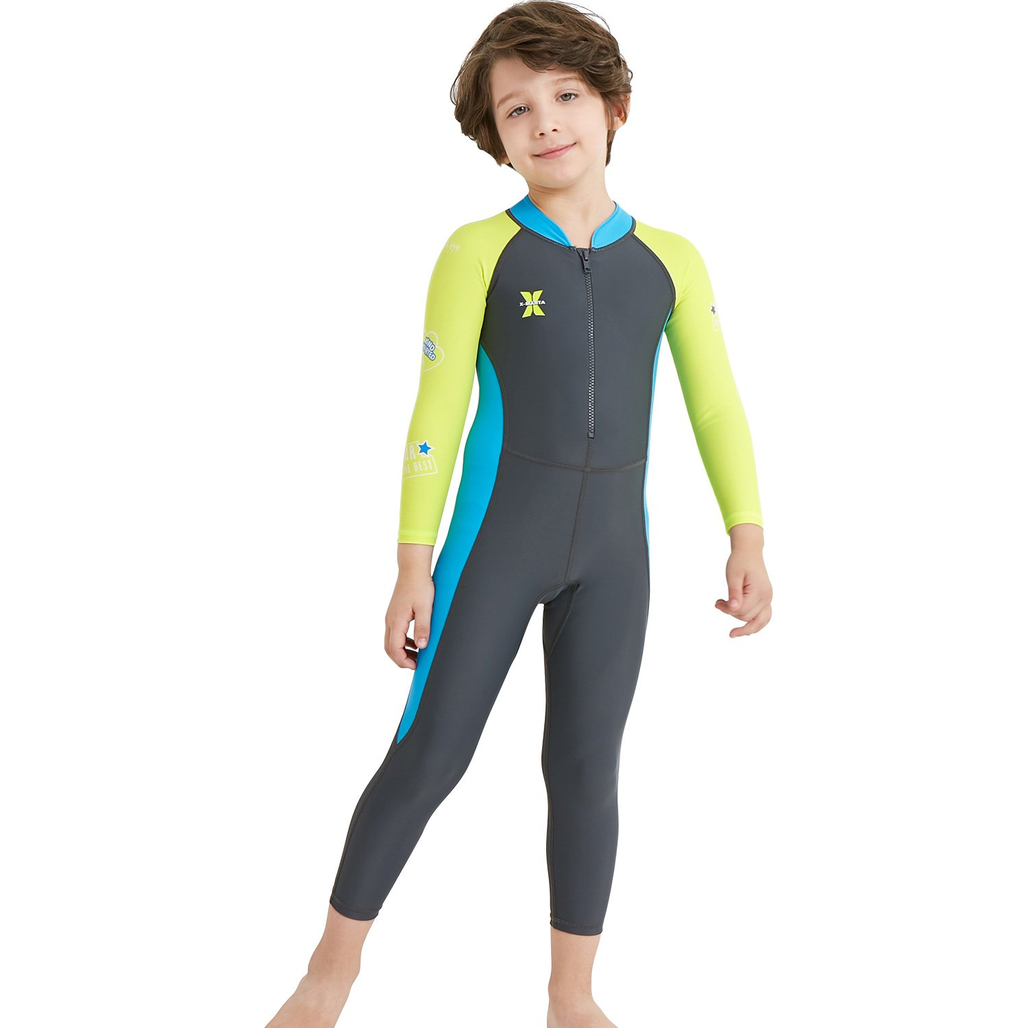 428f4d30a73da Amazon.com: DIVE & SAIL Girls Long Sleeve Rash Guard UPF 50+ Full Swimsuit  for Boys Kids: Sports & Outdoors