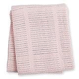 lulujo Baby Cellular Baby Blanket, Pink