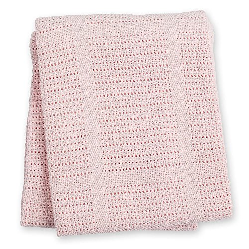 lulujo Baby Cellular Blanket Pink