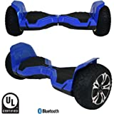 CHO Electric Hoverboard All Terrain Rugged Hoover Board Off-Road Smart Self Balancing Wheels Scooter with Built-in Wireless Speaker LED Lights UL2272