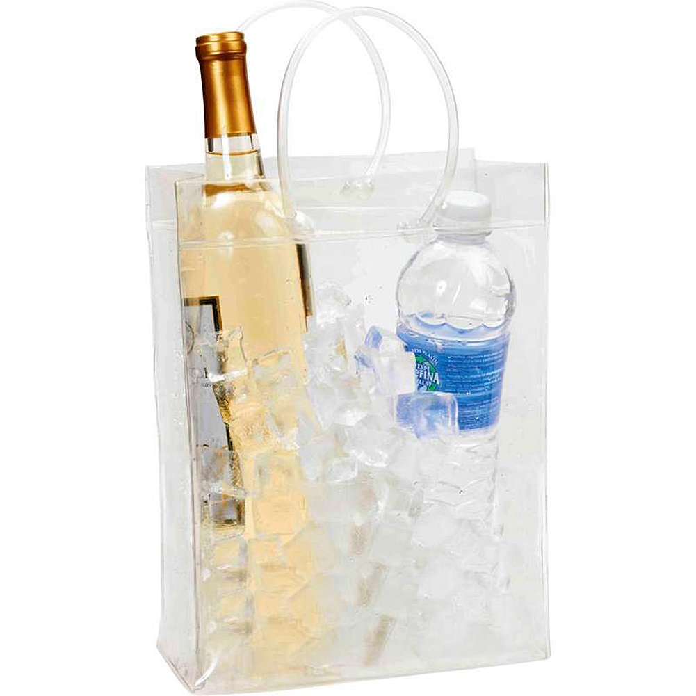 Transparent Wine Bottle & Beverage Cooling Ice Bag by Wyndam House