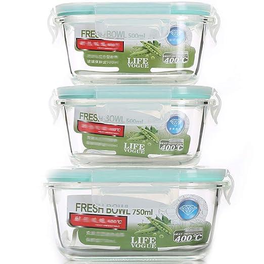 Recipiente para alimentos, caja de conservación de cristal ...