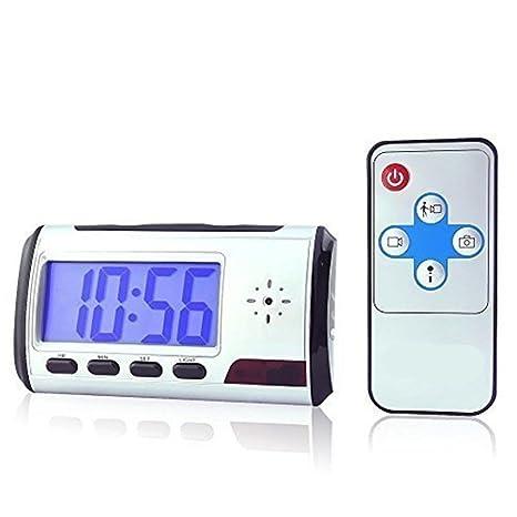 Electro-Weideworld - Reloj Despertador Cámara Espía Mini DVR Vídeo Audio Grabadora Videocámara Detector de