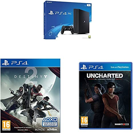 PlayStation 4 Pro (PS4) - Consola, Color Negro + Destiny 2 ...