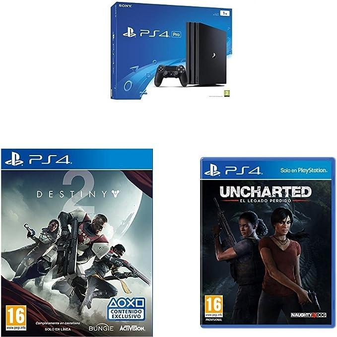PlayStation 4 Pro (PS4) - Consola, Color Negro + Destiny 2 ...