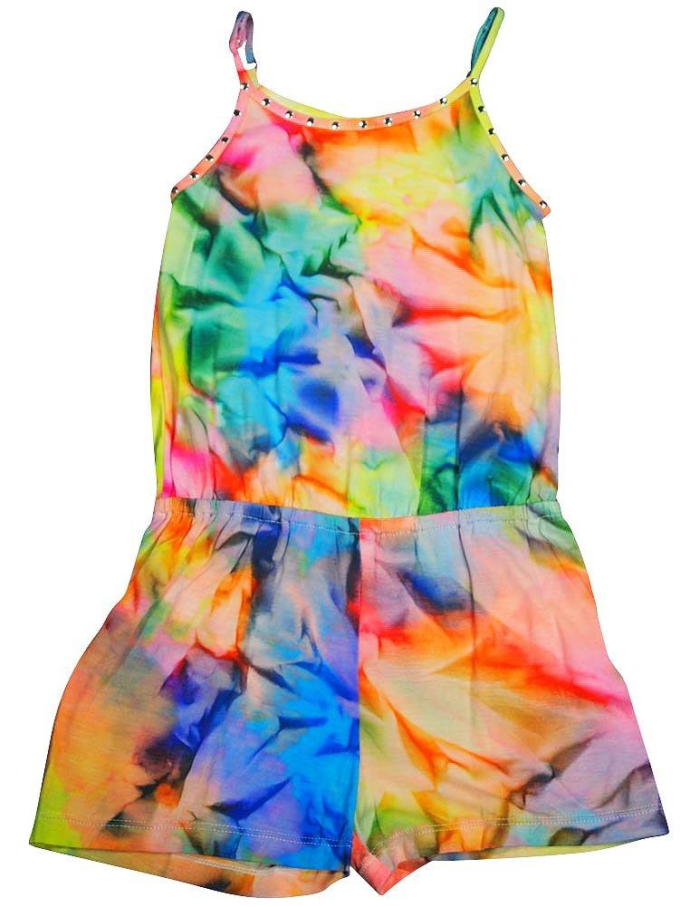Flowers by Zoe - Little Girls's Tie Dye Romper, Multi 35613-3T