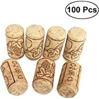 BESTonZON 100 unidades Vino Tapón Corcho, Corchos