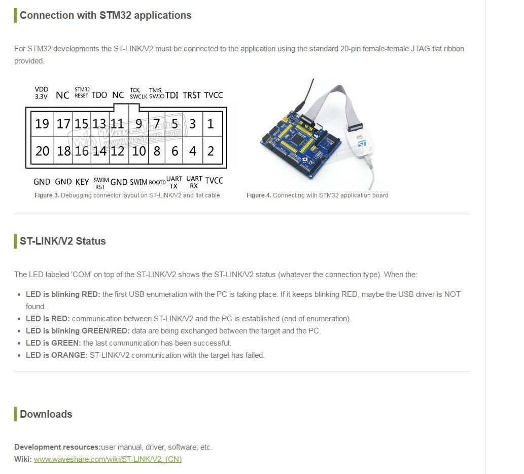 Amazon com: Waveshare ST-LINK / V2 CN for STM32 STM8 MCUs