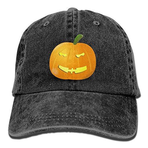 Vogue Vintage Cap (Puzzled Pumpkin Baseball Cap Adjustable Unisex Yarn-Dyed Denim Hat)