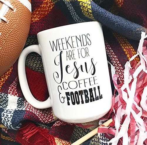 Inappropriate Costumes For Guys (Fall Mugs, Weekends are for Jesus, Coffee and Football, Weekend Mug, Jesus Mugs, Gifts for Her, Coach's Wife Gift, Tailgate Mug)
