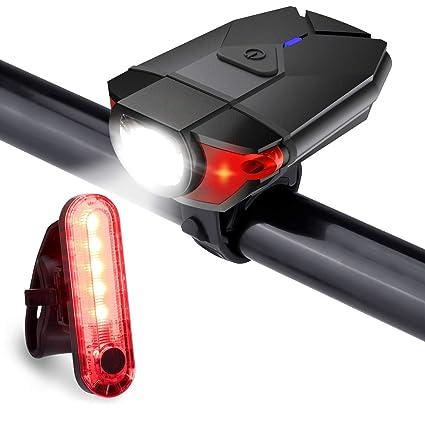 Waterproof USB Rechargeable Front Bicycle Light Rear Lamp Raod Bike Headlight
