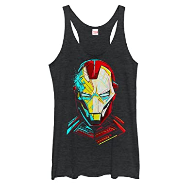 1e1c97fad12ca Amazon.com  Marvel Women s Iron Man Sketch Racerback Tank Top  Clothing