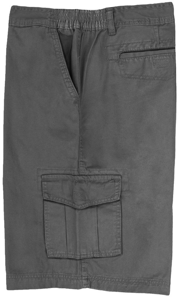 Full Blue Big Men's Cargo Shorts with Expandable Waist Size 46 Gray #872C